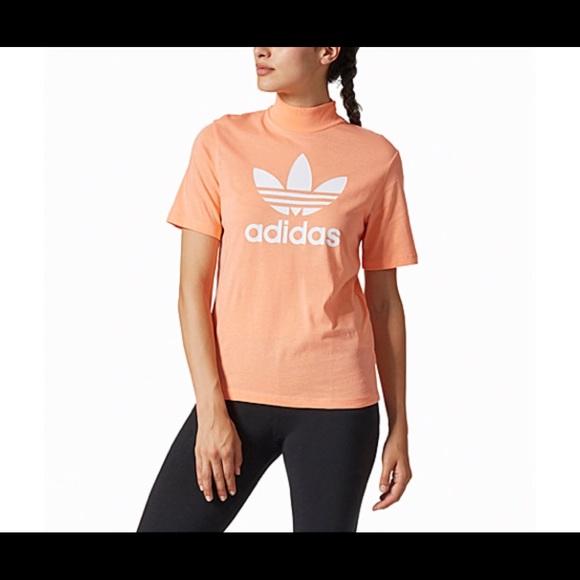 adidas Tops - ADIDAS ORIGINALS PHARRELL HIGH NECK LOGO T-SHIRT